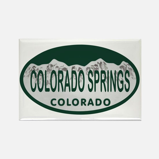 Colorado Springs Colo License Plate Rectangle Magn