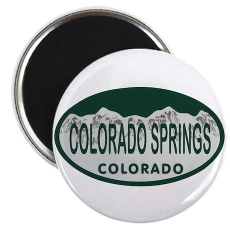 Colorado Springs Colo License Plate Magnet