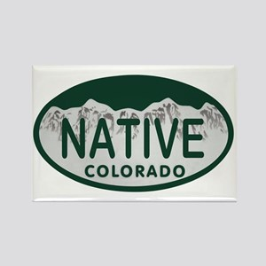 Native Colo License Plate Rectangle Magnet
