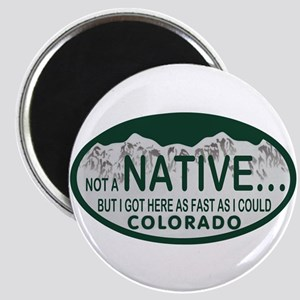 Not a Native Colo License Plate Magnet