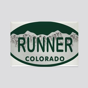 Runner Colo License Plate Rectangle Magnet