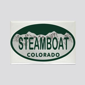 Steamboat Colo License Plate Rectangle Magnet
