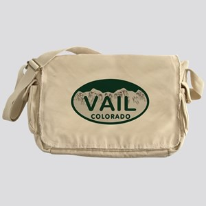 Vail Colo License Plate Messenger Bag