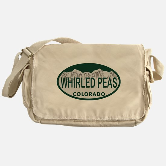 Whirled Peas Colo License Plate Messenger Bag