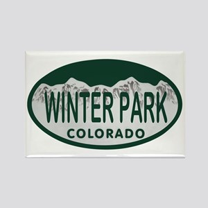 Winterpark Colo License Plate Rectangle Magnet