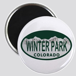 Winterpark Colo License Plate Magnet