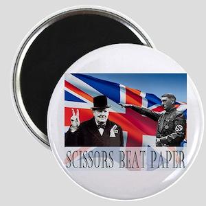 Scissors Beat Paper Magnet
