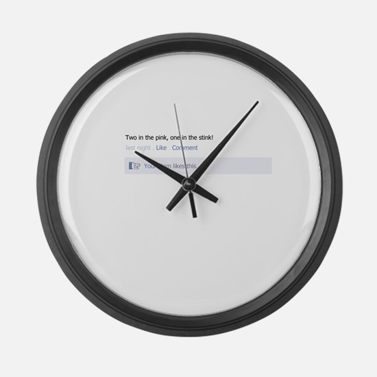 The Shocker - Your Mom! Large Wall Clock