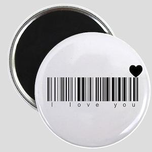 Bar Code I Love You Magnet