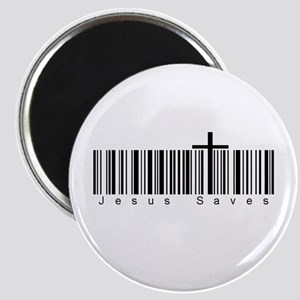 Bar Code Jesus Saves Magnet