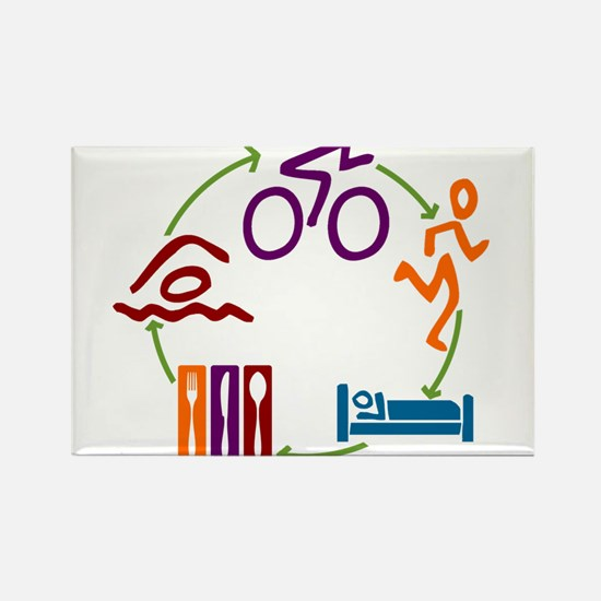 Tri Cycle Rectangle Magnet