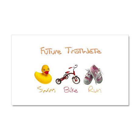 Future Girl Triathlete Car Magnet 20 x 12