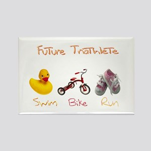 Future Girl Triathlete Rectangle Magnet