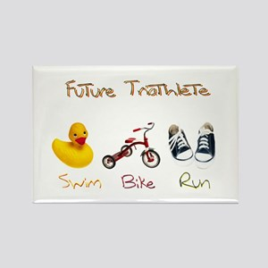 Future Triathlete Rectangle Magnet