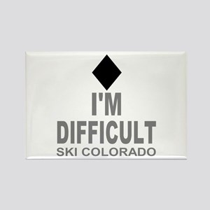 I'm Difficult Ski Colorado Rectangle Magnet