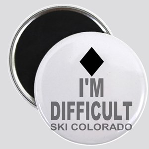 I'm Difficult Ski Colorado Magnet