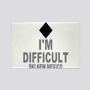 I'm Difficult ~ Ski New mexico Rectangle Magnet