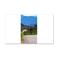 Cycling the Rockies Car Magnet 20 x 12