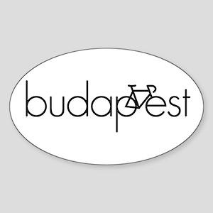 Bike Budapest Sticker (Oval)