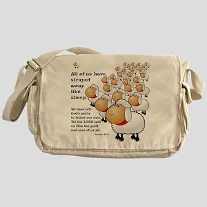 Strayed away like sheep Messenger Bag