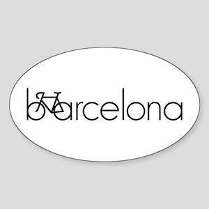 Bike Barcelona Sticker (Oval)