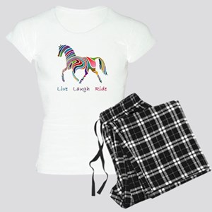 Rainbow horse gift Women's Light Pajamas