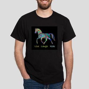 Rainbow horse gift Dark T-Shirt