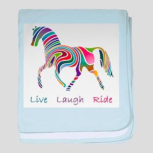 Rainbow horse gift baby blanket