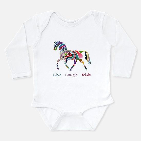 Rainbow horse gift Long Sleeve Infant Bodysuit