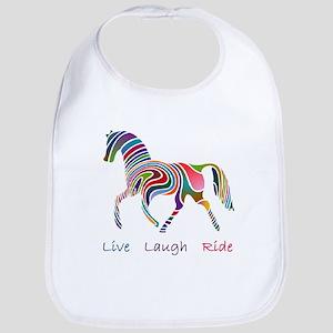 Rainbow horse gift Bib