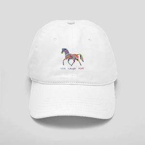 Rainbow horse gift Cap