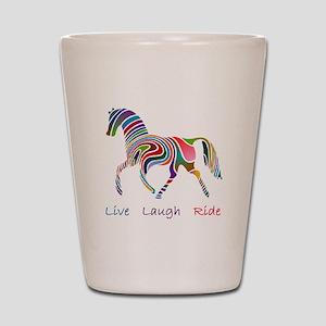 Rainbow horse gift Shot Glass