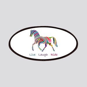 Rainbow horse gift Patches