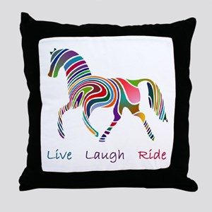 Rainbow horse gift Throw Pillow