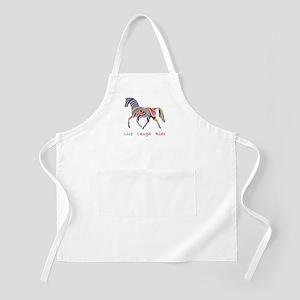 Rainbow horse gift Apron