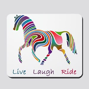 Rainbow horse gift Mousepad