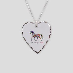 Rainbow horse gift Necklace Heart Charm