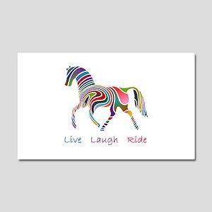 Rainbow horse gift Car Magnet 20 x 12