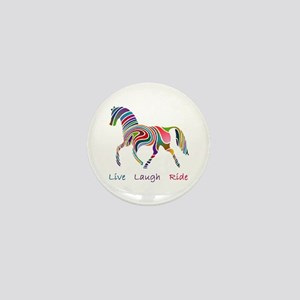 Rainbow horse gift Mini Button