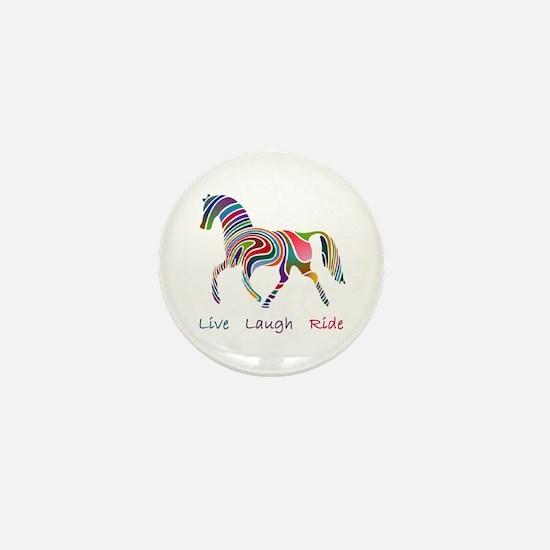 Rainbow horse gift Mini Button