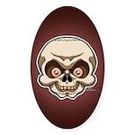 The Skull Sticker (Oval 10 pk)