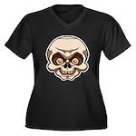 The Skull Women's Plus Size V-Neck Dark T-Shirt