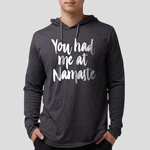 You Had Me At Namaste Mens Hooded T-Shirts