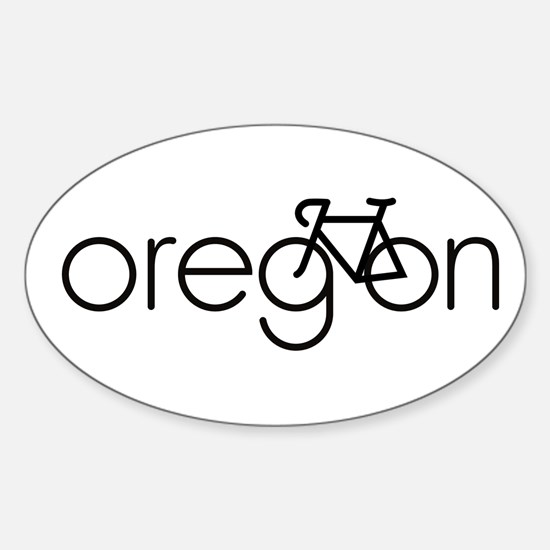 Bike Oregon Sticker (Oval)