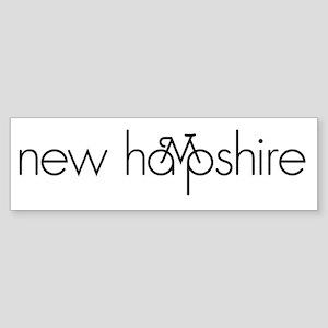 Bike New Hampshire Sticker (Bumper)