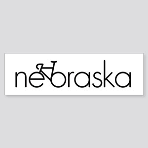 Bike Nebraska Sticker (Bumper)