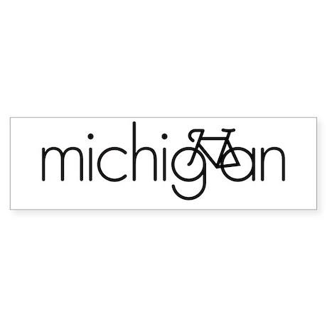 Bike Michigan Sticker (Bumper)