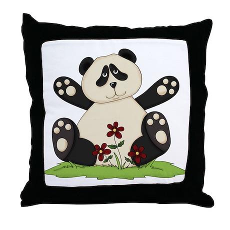 Panda Bear Hug Throw Pillow