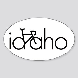 Bike Idaho Sticker (Oval)
