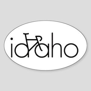 Bike Idaho Sticker (Oval)